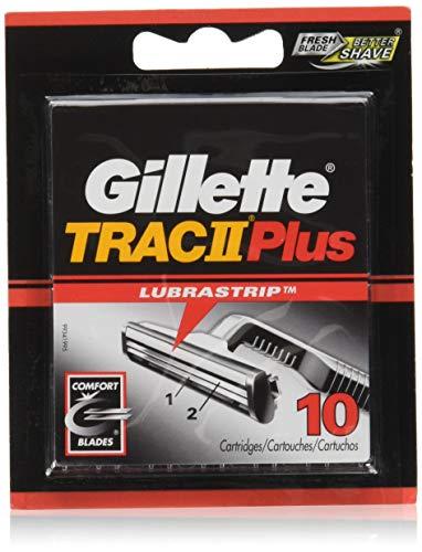 Gillette TRAC II Plus Razor Blade Refill Cartridges - 10 Count (Pack of - Blades Razor Trac 11