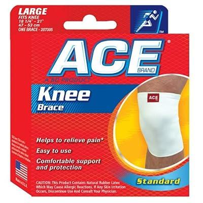 ACE 207305 Tissus de coton genou Br - Taille-Large -18,25 - 21 pouces