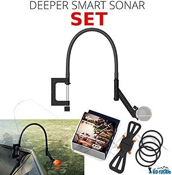 Deeper Smart Sonar Pro + Plus Juego de Accesorios + Brazo Flexible ...