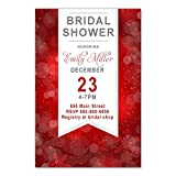 30 Invitations Christmas Bridal Shower Party Personalized Cards Botanical Photo Paper
