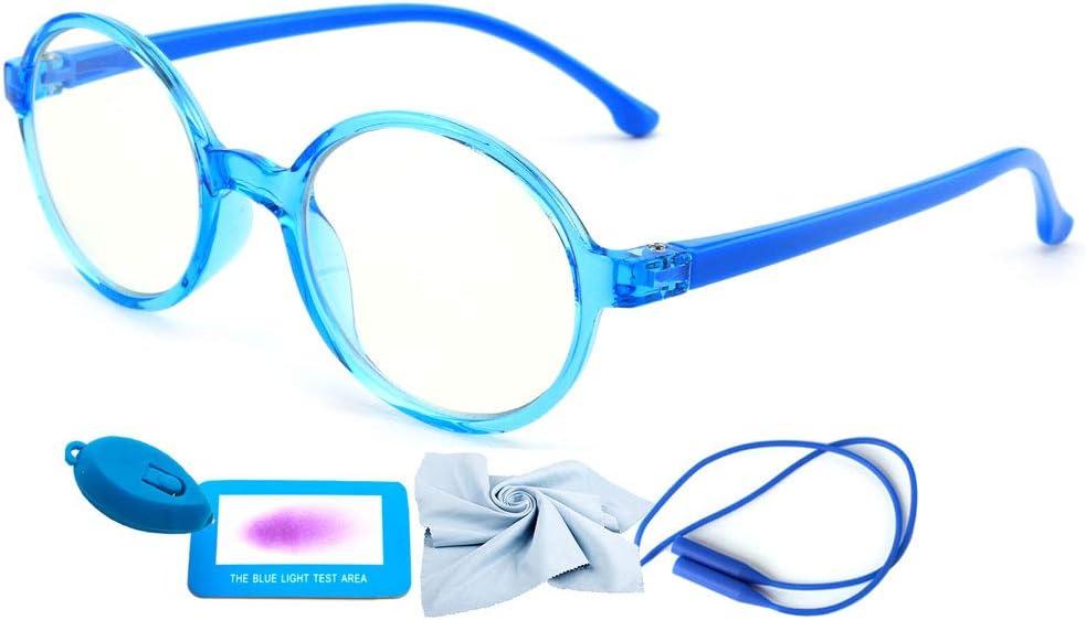 ETGUN Anti Glare Eyeglasses Children UV Protection Phone Computer Gaming Eyewear Kids Plain Glasses Anti Blue Light Glasses Black/&Green