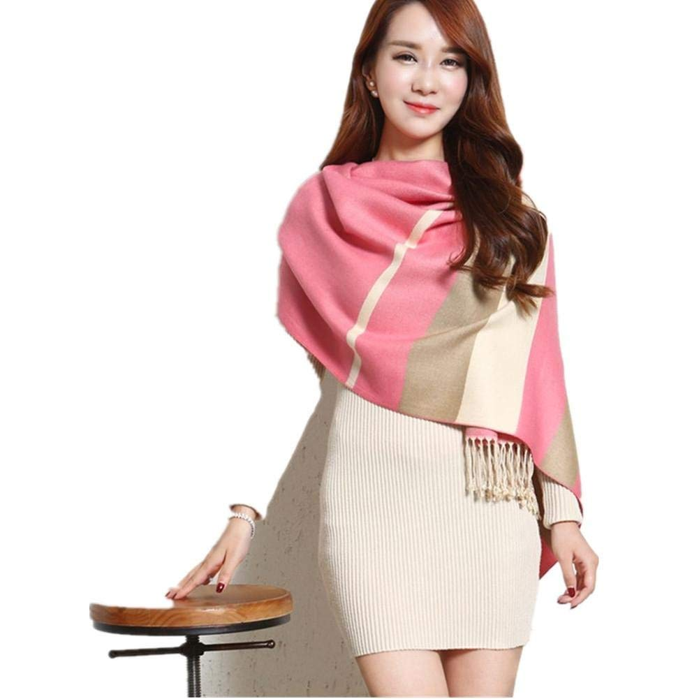 1 Womens Scarf Ladies Winter Autumn Warm Cashmere Scarf Large Double Purpose Cappa Cotton Mixed color Fashion Wild for Women