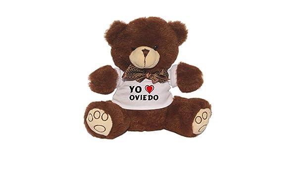 Oso marrón de peluche con Amo Oviedo en la camiseta (ciudad / asentamiento): Amazon.es: Juguetes y juegos