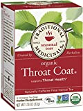 Traditional Medicinals Organic Throat Coat Tea, 16 Tea Bags (Pack of 6)