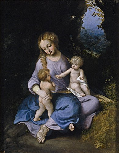 'Correggio The Virgin And Christ Child With Saint John Ca. 1516 ' Oil Painting, 24 X 31 Inch / 61 X 78 Cm ,printed On High Quality Polyster Canvas ,this (Halloween Story 7th Grade)
