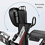 JXH-Folding-Mountain-Bike-per-Freni-a-Disco-Doppio-per-Adulti-48V-8AH-Montagna-Bicicletta-elettrica-e-con-Display-LED-Eco-Friendly-Bici-per-Urban-CommuterNero