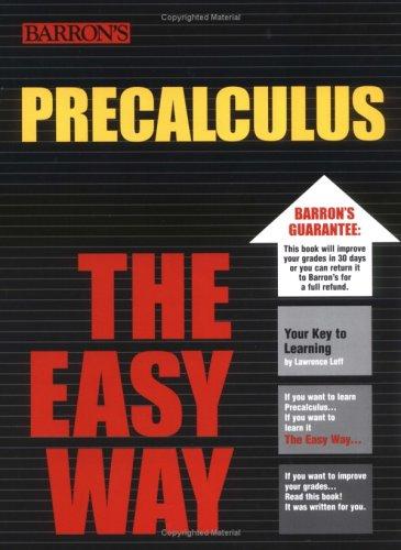PreCalculus the Easy Way (Easy Way Series)