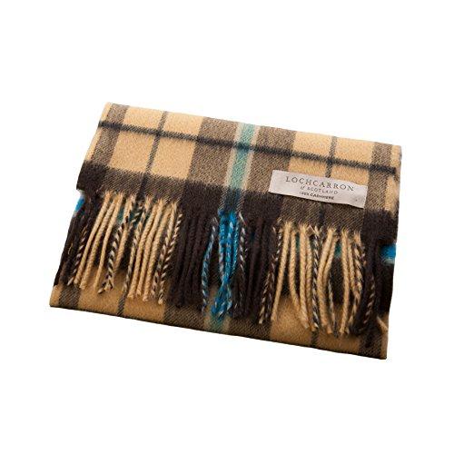 Lochcarron Of Scotland Extra Fine 100% Cashmere Tartan Scarf Douglas Olive (One Size) by Lochcarron