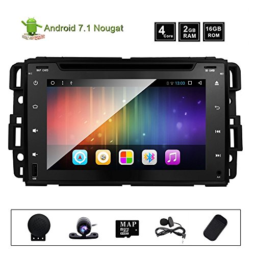 Car DVD Radio for Chevrolet GMC Silverado Acadia Avalanche Express Buick Enclave Chevy 1500 Hummer H2 2008 2009 Quad Core 2+16GB Split Screen Multimedia GPS Stereo Android 7.1 Nougat OS (Buick Screen Touch)