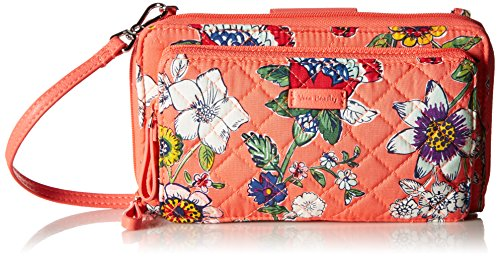 Coral Floral Iconic Vera Bradley All Cotton Signature Crossbody Together Deluxe 8r8w5zq