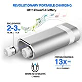 True Wireless Earbuds, Portable Power Bank with Bluetooth In-Ear Earbuds Stereo Earphones (White)