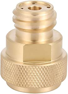 Adapter Tank Canister Conversion Brass Refill Adapter C02 Replace Tank Paintball Conversion Adapter Replacements for Sodastream with Wrench Golden