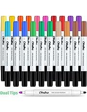 Whiteboard pennor 20 stycken, Ohuhu 15 färger blädderblock pennor med dubbla spetsar, whiteboard markör för flip-chart, magnettavla, whiteboard, perfekt för hem, skola, kontor