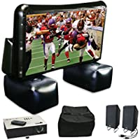 Sima XL-PRO 72-Inch Inflatable screen bundled with projector