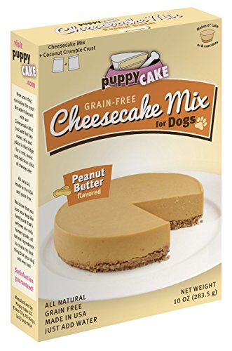 Grain-Free Cheesecake Mix for Dogs with Coconut Crumble Crust - Just Add Water for Cake for Dogs in Peanut Butter Flavor, 11 ounces