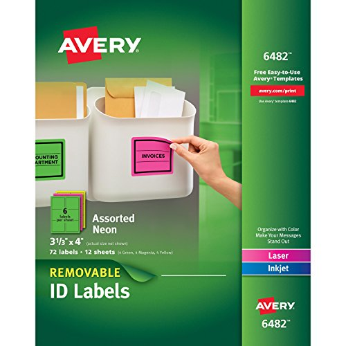 Avery Removable Multipurpose Labels Assorted