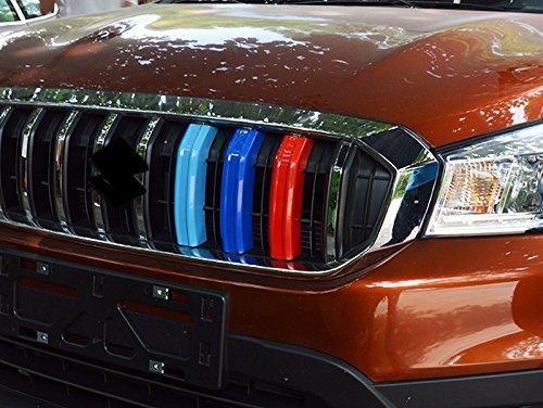 ABS trois Couleur du milieu Grille Grill Garniture d/écorative Coque 3 pcs pour SX4 S-Cross 2014-2019 accessoire Auto