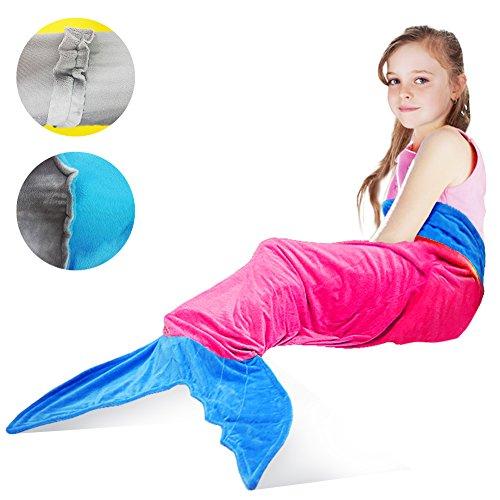 Water Color Fairy Toddler Costumes (Mermaid Tail Blanket,Tysonir Super Soft and Warm Shark plush blanket Seasons Warm Soft Sleeping Bag Present for Girls kids (Pink))
