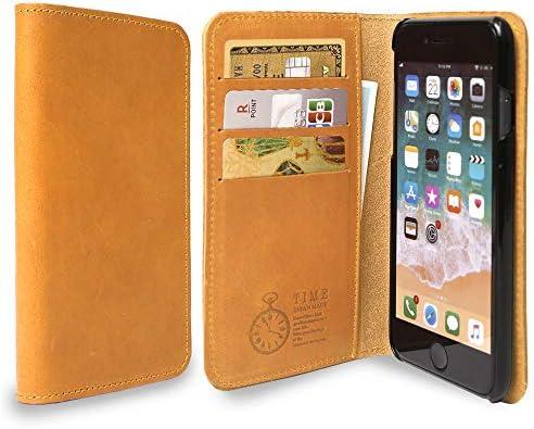 iPhone7 手帳型ケース 本革 イタリアンレザー カード収納 革 カバー ケース (カラー キャメル) スマホケース 手帳ケ