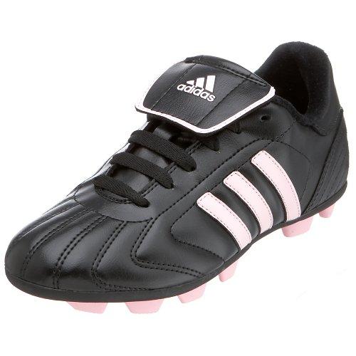 (adidas Little Kid/Big Kid Telstar TRX Hard Ground Soccer Shoe,Black/Diva,2 M US Little Kid)