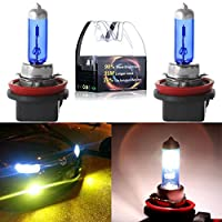 CCIYU 2 pcs High Performance H11 Xenon HID Halogen Bulbs for 2006 2007 2008 2009 2010 2011 2012 2013 Chevy Impala Fog Light Headlight Bulb Low Beam Light