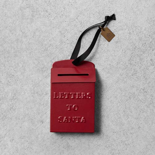 Hearth & Hand with Magnolia Red Metal Mailbox Ornament, Letters to Santa