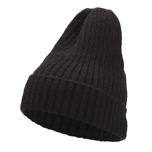 EKIMI Women s Autumn Winter Beanie Hat Knitting Wool Warm Hats ... 6d3aab6f444