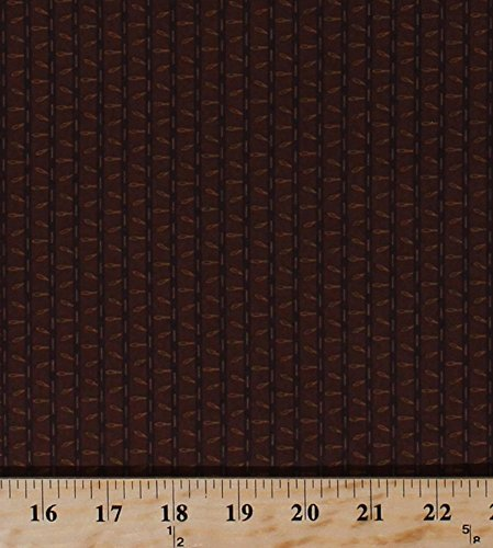 Cotton Civil War Reproduction Bud Stripe Stripes Sewing Needles Thread Stitches Brown Jo Morton From Lucinda's Window Historical Vintage Cotton Fabric Print by the Yard (p0260-3629-n)