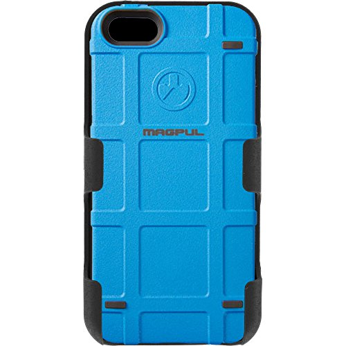 Magpul Industries iPhone 5/5s and iPhone SE MAG454-LBL Bump Case & EGO Tactical Swivel Belt Clip Holster Combo Kit (Lite Blue) (Magpul Industries Iphone 5 5s Bump Case)