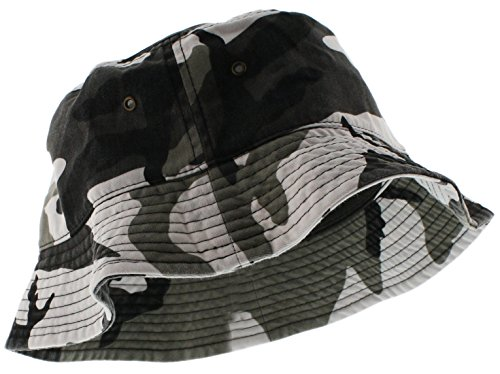 Ted and Jack Urban Warrior Cotton Camouflage Bucket Hat In Woodland Gray Camo Size -