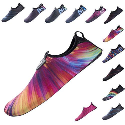 Water Beach Exercise for YQXCC Shoes Yoga Aqua Barefoot Mens Womens Pool Surf Slip Quick Rainbow2 Drying Shoes Aqua Anti g44wRd