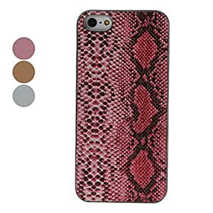 Snakeskin Style Hard Case for iPhone 5/5S (Assorted Colors) , Red