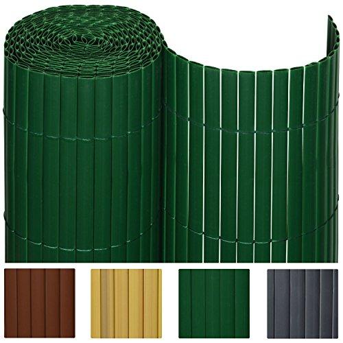 Sol Royal® PVC Sichtschutz-Zaun - 80x300cm in Grün - Kunststoff-Matten für Garten oder Balkon - alle Größen