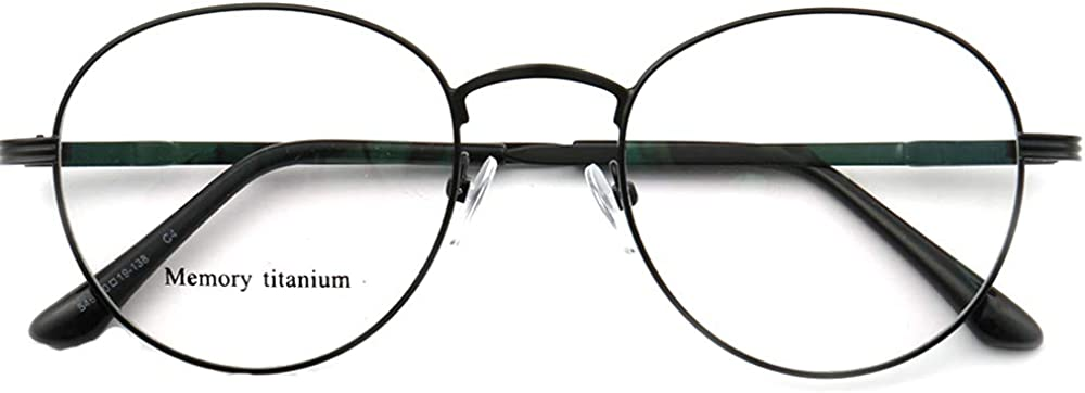 Classic Round Full Rim Flexible Memory Metal Prescription Eyewear Frames