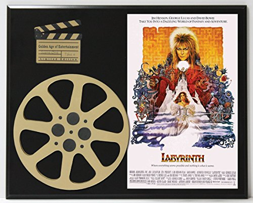 LABYRINTH STARRING DAVID BOWIE LIMITED EDITION MOVIE REEL DISPLAY