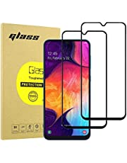 Hianjoo [2-Pack] Screen Protector Compatible with Samsung Galaxy A50/A30/A20/M30, 9H Tempered Glass Film Compatible for Samsung Galaxy A50/A30/A20/M30 [Scratch-Resistant][Anti-Shatter] - Black