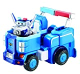 super robot toy - Super Wings - Police Cruiser | Toy Vehicle Set |, Includes Transform-a-Bot Paul Figure | 2