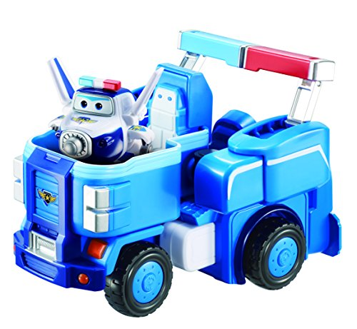 (Super Wings - Paul's Police Cruiser | Transforming Toy Vehicle Set | Includes Transform-a-Bot Paul Figure | 2