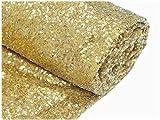 ShinyBeauty Champagne Gold-Aisle Runner-50FTX4FT,Glitter Sequin Wedding Aisles Floor Runner,Sparkle Carpet Runner