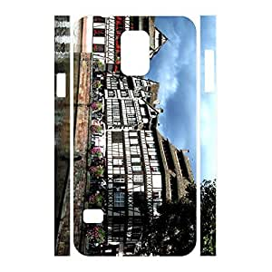 Hipster Charming Dustproof Building Pattern Phone Accessories Cover Skin for Samsung Galaxy S5 I9600 Case