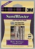 3M SandBlaster 20917-150 Bare Surfaces Sanding Pad, Medium 150