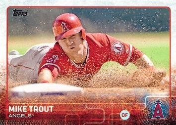 2015 Topps 300 Mike Trout Baseball Card At Amazons Sports