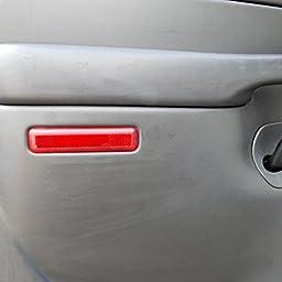 2003-2007 GM Trucks & SUVs Rear Left Driver\'s Trim Panel Door Reflector Red Back Door, Escalade, Avalanche, Silverado, Sierra, Suburban, Tahoe, Yukon