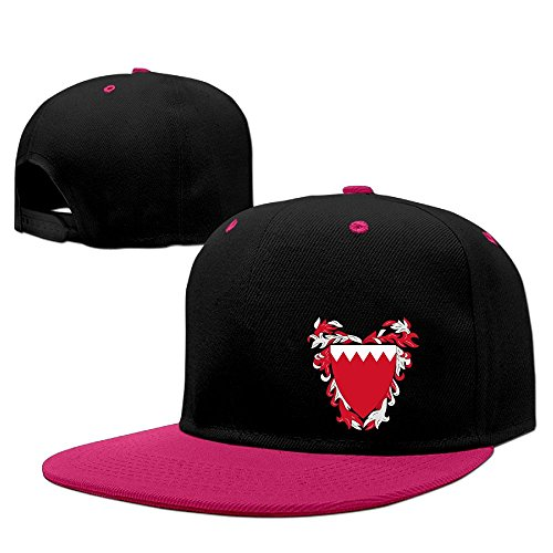 Wine Olympus (Xiha01ksi Unisex Coat Of Arms Of Bahrain B-Boy Hat Pink)