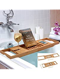 Bamboo Bathtub Rack Shelf Caddy Tray ...