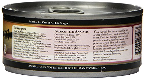 Addiction Herbed Duck & Sweet Potatoes Grain Free Canned Cat Food, 5.5 oz. (24-pack)