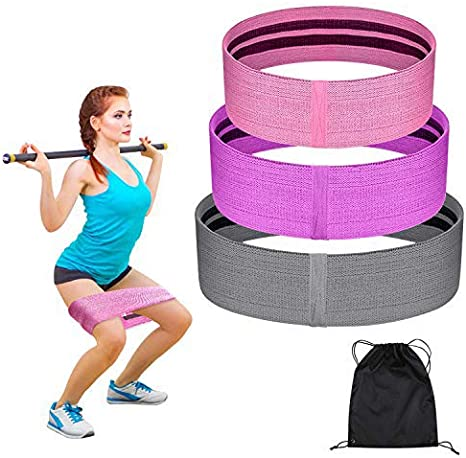 3 rubber Resistance Loop Booty Band Yoga Fitness Crossfit Pilates Workout Gym UK