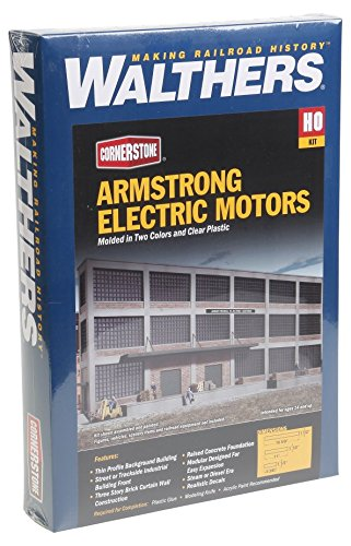 Walthers Ho Scale Cornerstone Background (Walthers Cornerstone Series174 HO Scale Background Building Kits Armstrong Electric Motors)