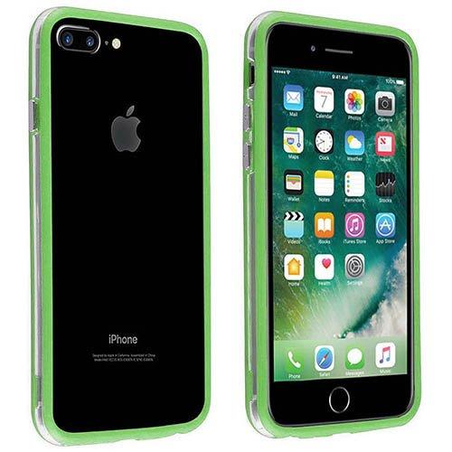 Casotec Mobile Backless Bumper Frame Case Cover for Apple iPhone 7 Plus   Light Green
