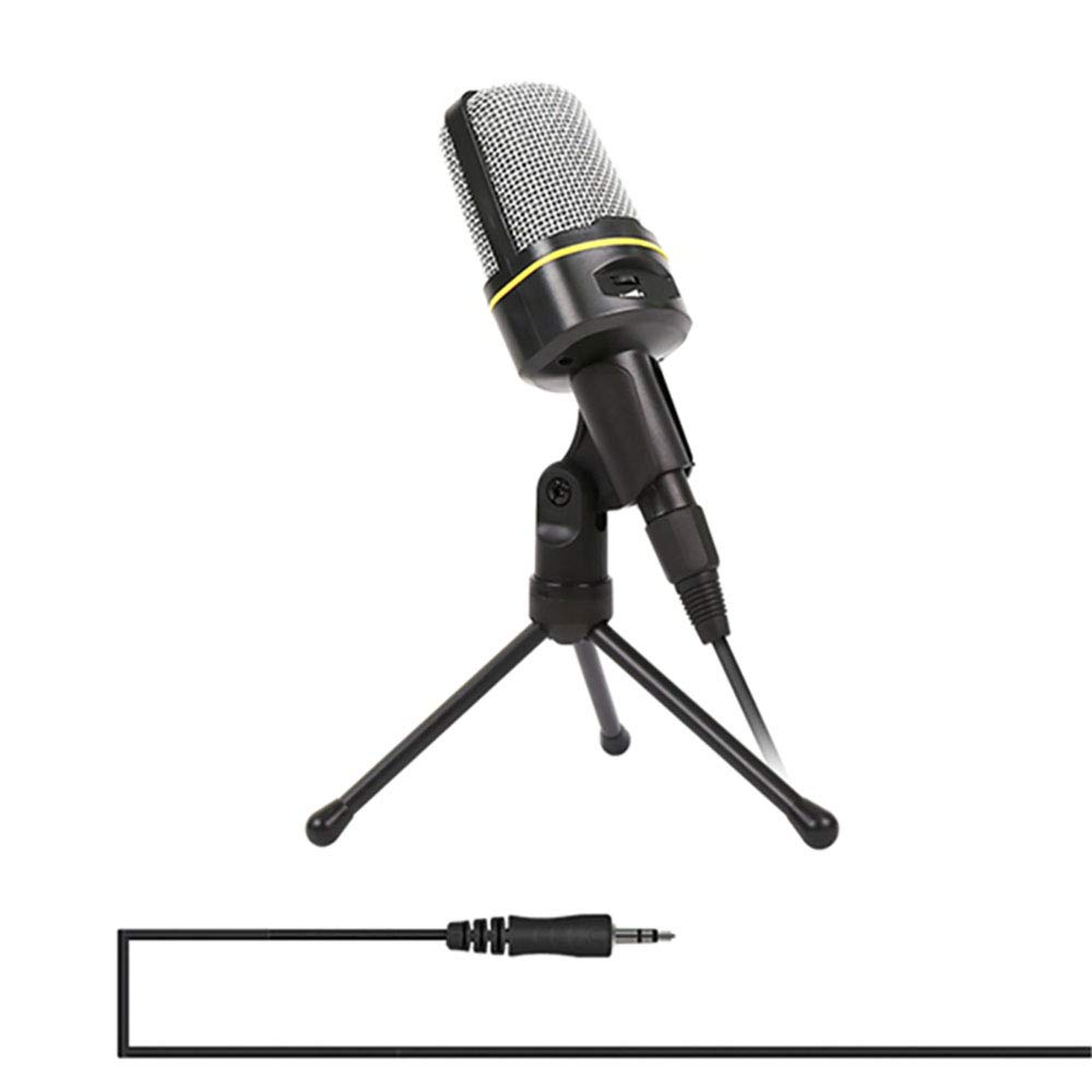 ZYG.GG PC Microphone, 3.5mm Jack Condenser Recording Microphone with Mic Stand for PC, Laptop, Mac, Smartphone - Gaming, Singing, YouTube, Skype